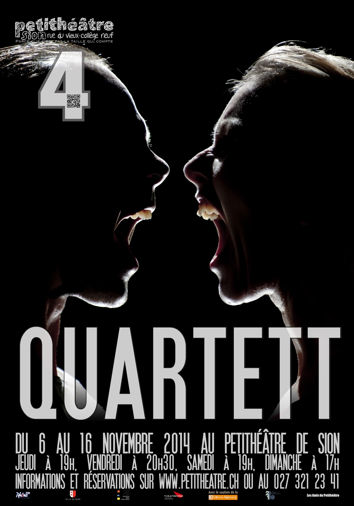 Affiche de Quartett au Petithéâtre de Sion