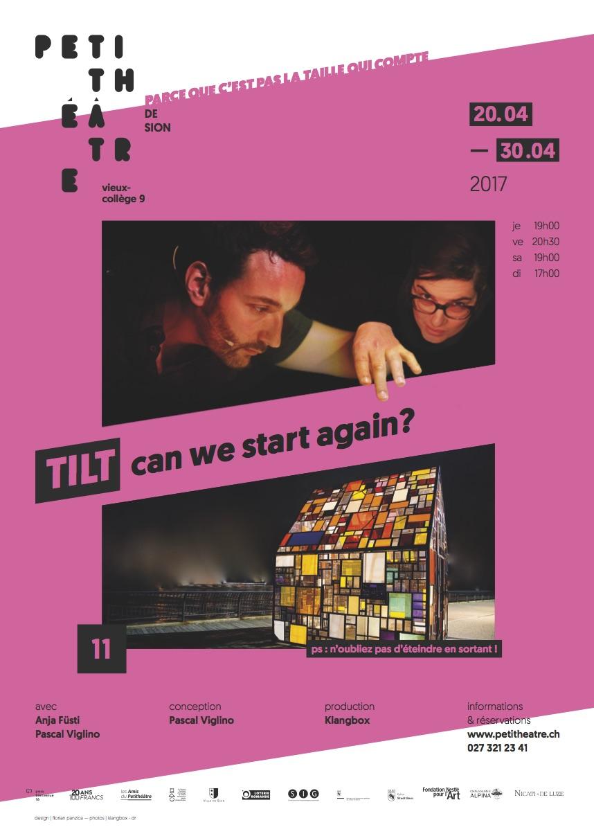 Affiche de <strong>TilT</strong> au Petithéâtre de Sion