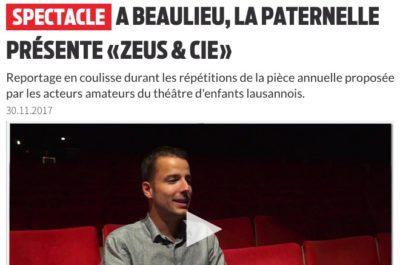 """La Paternelle présente """"Zeus & Cie"""", rencontre avec Stefan Hort"""